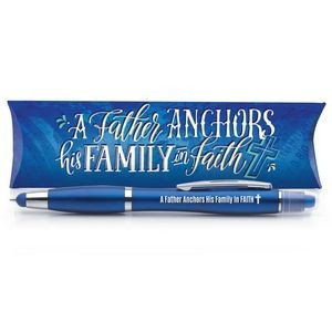 A Father Anchors His Family In Faith 3-in-1 Pen/Stylus/Highlighter in Pillow Box